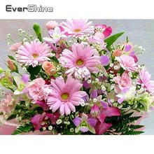 Evershine полный квадратный алмаз картина цветы Стразы Вышивка