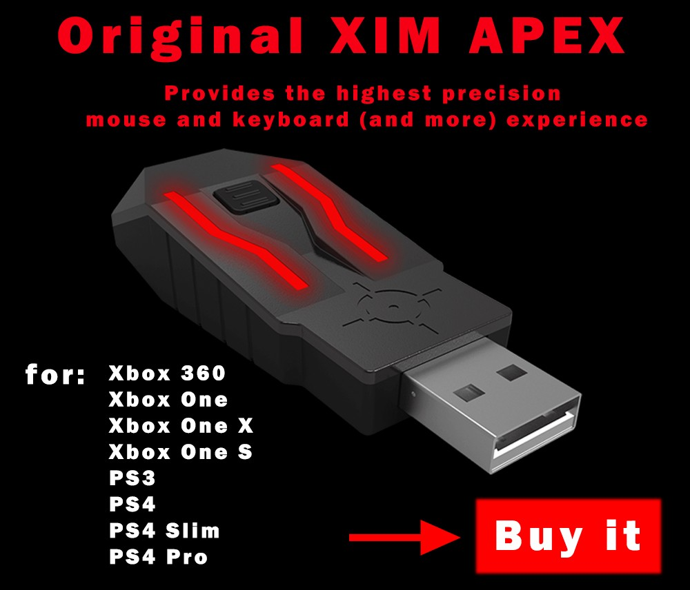 XIM APEX highest Precision Mouse and Keyboard Adapter Conventer for