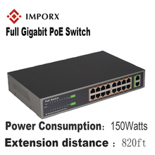 IMPORX 18 Ports 16 POE Injector POE Power Over Ethernet Switch POE Ethernet Switch Network Camera Power Adapter IEEE 802.3at/af 48v 500ma dual port 48w power over ethernet poe adapter black