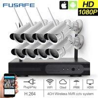 FUSAFE 2MP CCTV System 1080P 8ch HD Wireless NVR Kit Outdoor IR Night Vision IP Wifi