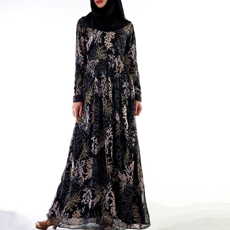 Caftan Abaya dubaï Islam 3D broderie Robe musulmane Abayas pour femmes Qatar eau Oman Caftan Robe turque vêtements islamiques