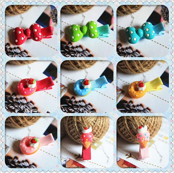 New Arrival styling tools Cute Donuts Bow hairpin headwear hair accessories for women girl children make you fashion