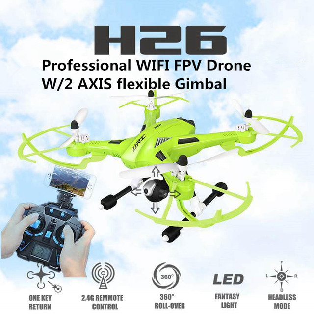 JJRC H26 FPV Drones W/ HD Camera + 2 Axis Gimbal 2.4G Rc Helicopter WIFI fpv quadcopter vs Yuneec Typhoon Professional Drones