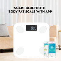 Bluetooth scales floor Body Weight Bathroom Scale Smart Backlit Display Scale Body Weight Body Fat Water Muscle Mass LG2103