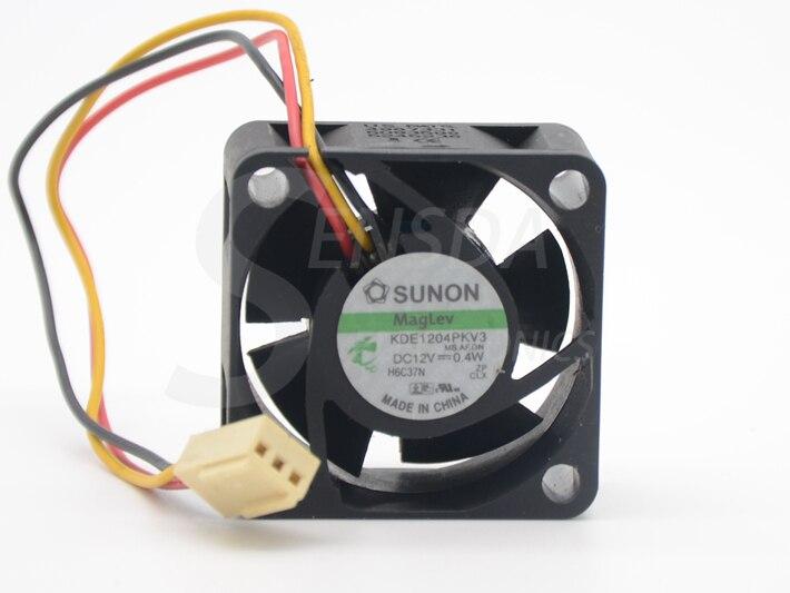 2pcs//lot for Sunon KDE1204PKV3 4020 40X40X20 DC 12V 0.40W Built-in Server Inverter Cooling Fan