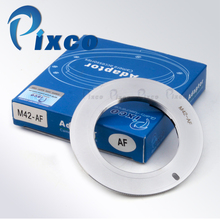 Pixco AF Bevestig Adapter M42 Schroef Mount Lens Suit voor Sony Alpha Voor Minolta MA Camera Zilver