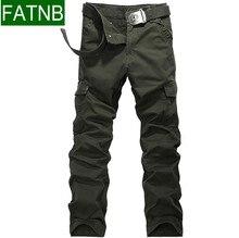 Military Style Cargo Pants Männer Taschen Design Atmungsaktiv und komfortabel 100% Baumwolle Herren Bekleidung Marke Hochwertigen