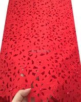 Big Red Laser Cut Swiss Voile Lace High Quality African Lace 2017 Royal Blue Lilac Burgundy