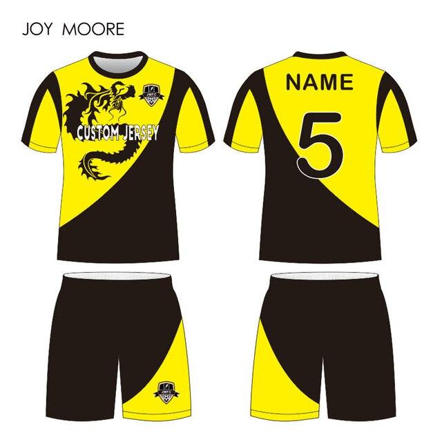 Conjunto de camisetas de fútbol conjunto completo uniforme de fútbol  personalizado cualquier color 823205c3cfcba