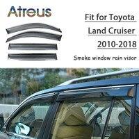 Atreus 1set ABS For 2018 2017 2016 2010 Toyota Land Cruiser Accessories Car Vent Sun Deflectors Guard Smoke Window Rain Visor