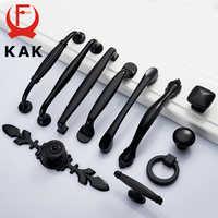 KAK en alliage de Zinc noir armoire poignées style américain cuisine placard porte tire tiroir boutons mode meubles poignée matériel