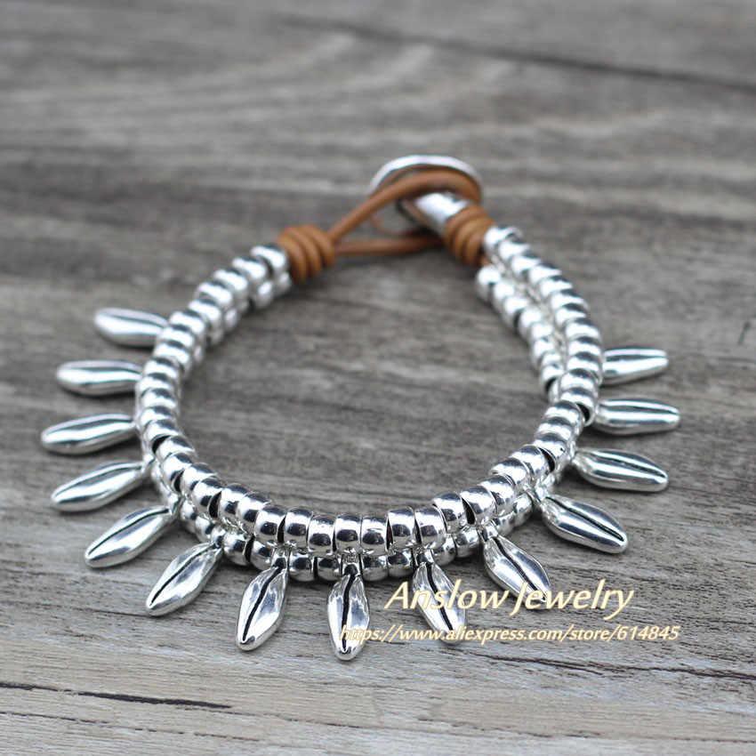 Anslow Модная бижутерия модные ювелирные браслеты посеребренные женские кофейные бобы браслет для женщин друзей LOW0747LB