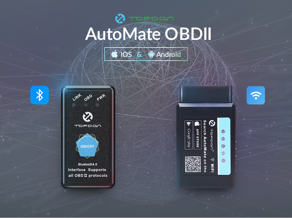 ᗗTOPDON AutoMate WiFi Bluetooth ELM327 V1 5 PIC18F25K80