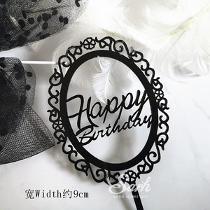 Image 3 - Gold Silver Black Acrylic Hand writing Happy Birthday Cake Topper Dessert Decoration for Birthday Party Lovely Gifts
