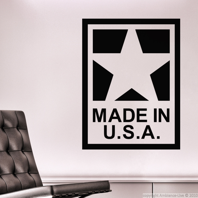 Wall Stickers Made In USA Star Vinyl Wall Decals Posters