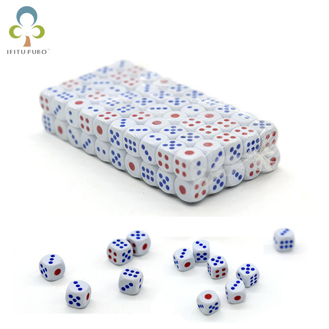 100 Dices pçs/lote 10mm Padrão Venda de Férias Enlightment Brinquedo Jogo Club Bar Beber Jogos de Azar Recriando Ferramentas Divertido Brinquedos