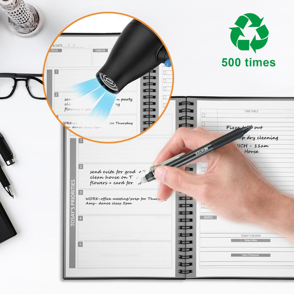 Image 2 - NEWYES Smart Reusable Erasable Notebook Paper Notepad Diary Journal Office School Travelers Reusable Planner DAY&DATENotebooks   -