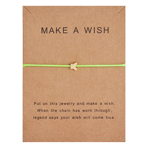 Регулируемый браслет с бумажными карточками в форме бабочки, звезды, короны, Круглый тканый браслет ручной работы, Простые Модные женские ювелирные изделия, подарки - Окраска металла: 5