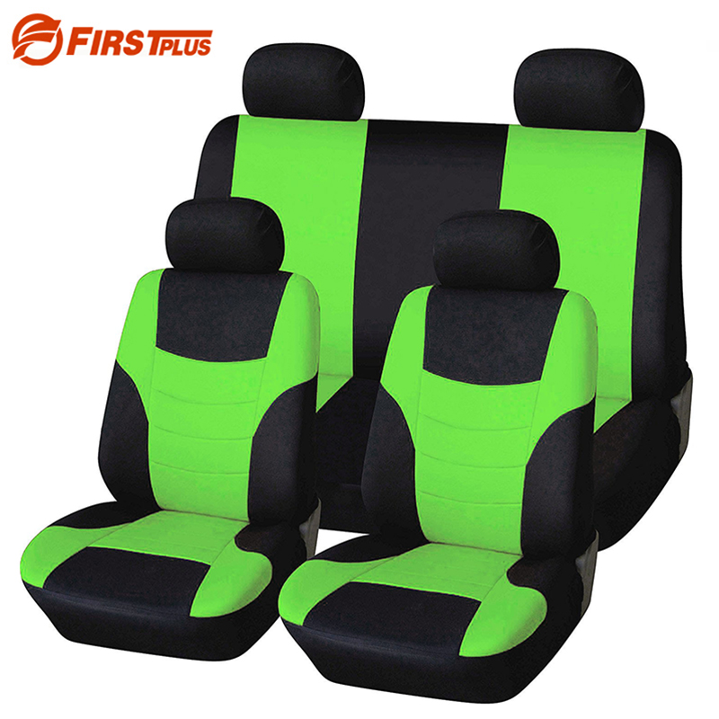 Car Styling Elastic Polyester Car Seat Covers Front Back Seat Cushion Cover Auto Chair Universal Fit - Interior Accessories pillowcase classic style wave pattern car comfy back cushion cover