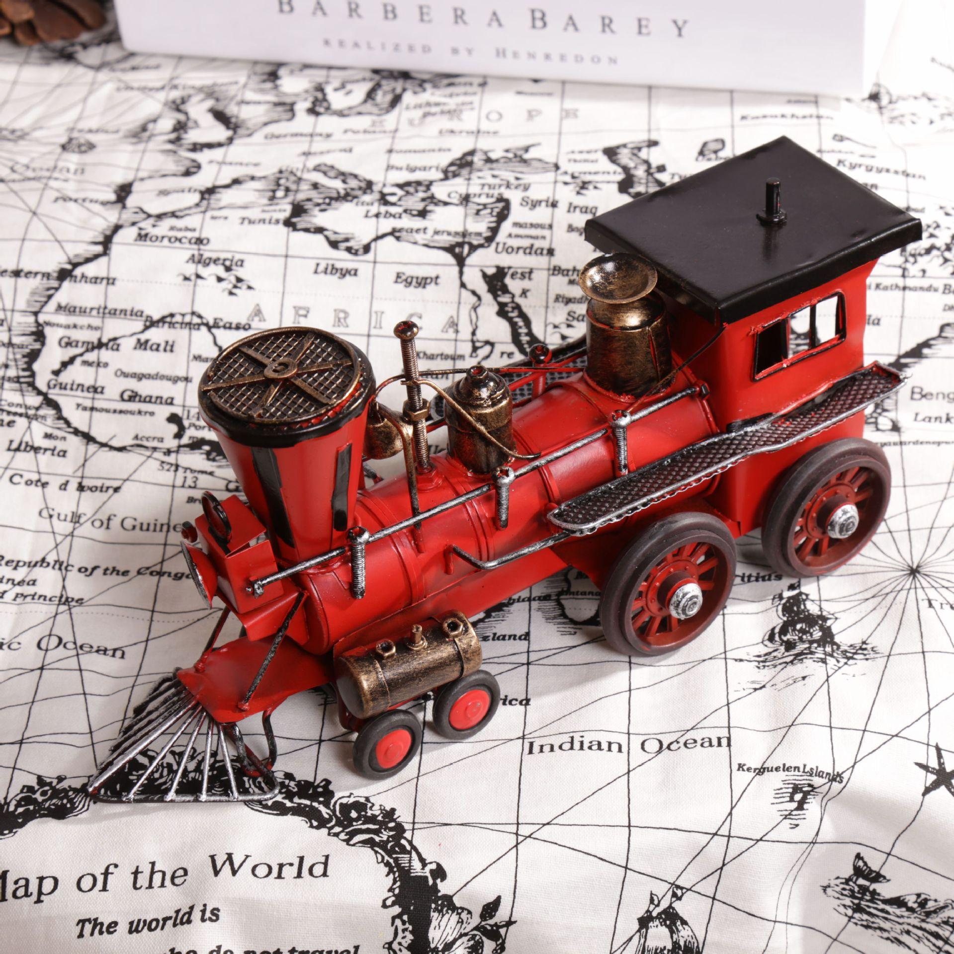 vintage style locomotive modell metall zug modell eisen dampf roten zug spielzeug handwerk schatz speicher von - Dekoration Tren