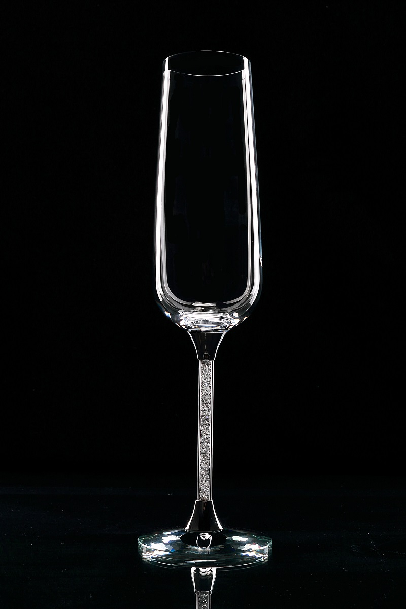 Popular silver champagne glasses buy cheap silver champagne glasses lots from china silver - Fluted wine glasses ...