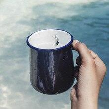 Креативная эмалированная пара чашка молоко кофе чашка офис подарок