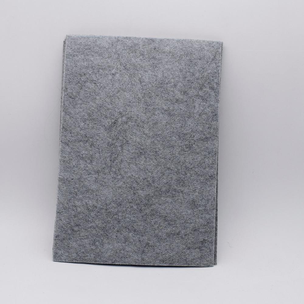 A4  Hard Thick 4mm Artificial Wool Felt Polyester Non Woven Gray Felt Fieltro Para Manualidades Diy Craft Handmade Vilt Stof