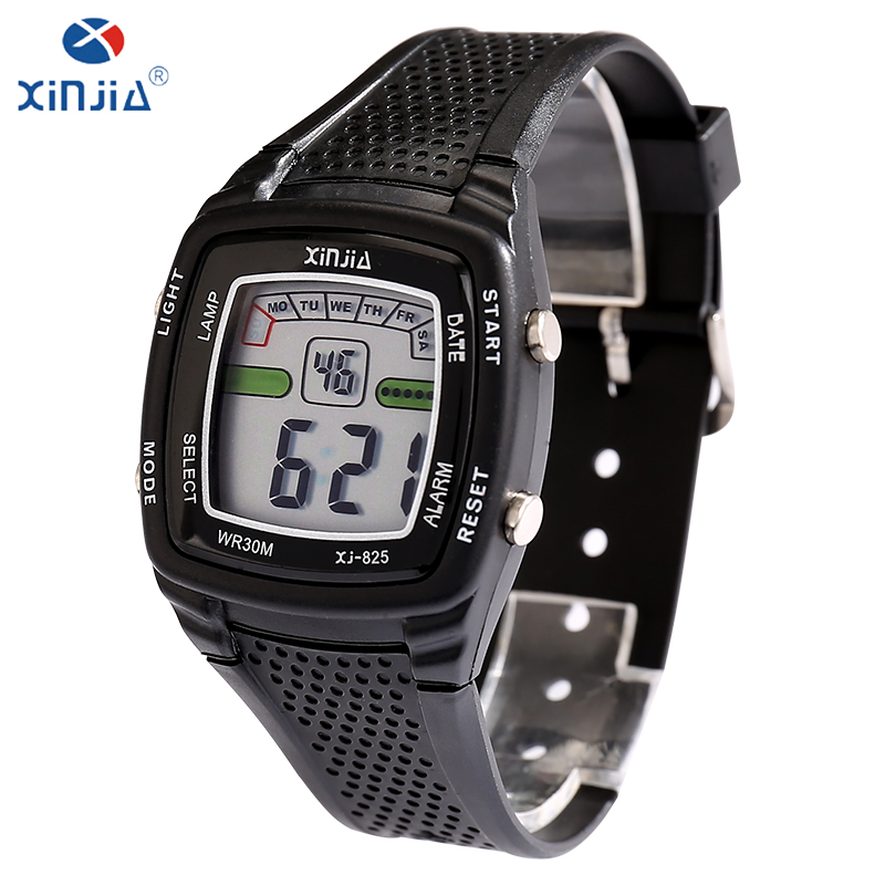 XINJIA Top brand luxury men casual electronic watches resin newst fashion LED watch 30m waterproof male young students watches все цены