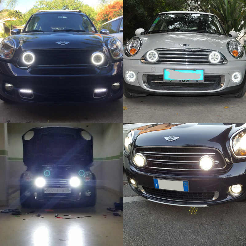 Front Per Led Halo Ring Rally Drl Daytime Driving Fog Lights For Mini Cooper R55 R56