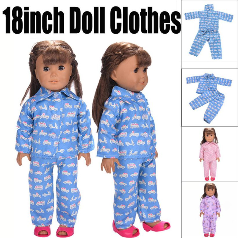 2018 Hot Sale Cute Pajamas Nightgown Clothes For 18 inch Our Generation American Girl Doll's Clothing Dolls Accessories MM3 doll accessories cute pajamas nightgown clothes for 18 inch american girl boy doll our generation