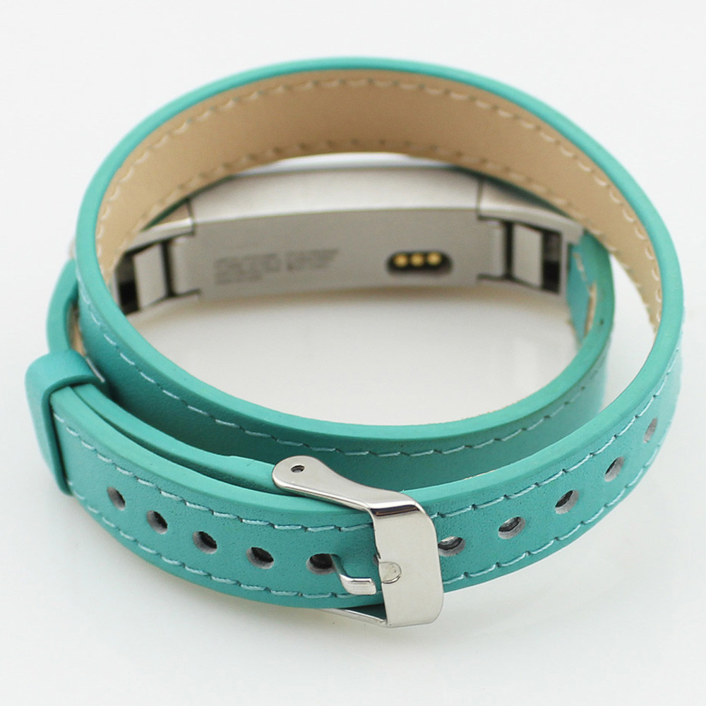 NEW Double Tour Genuine Leather Watch Band Strap Bracelet For Fitbit Alta High Quality 0429