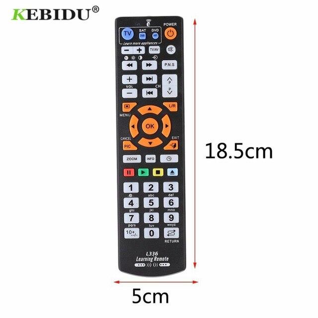KEBIDU L336 IR 원격 제어에 대 한 학습 기능을 가진 범용 스마트 원격 제어 컨트롤러 CBL DVD SAT L336