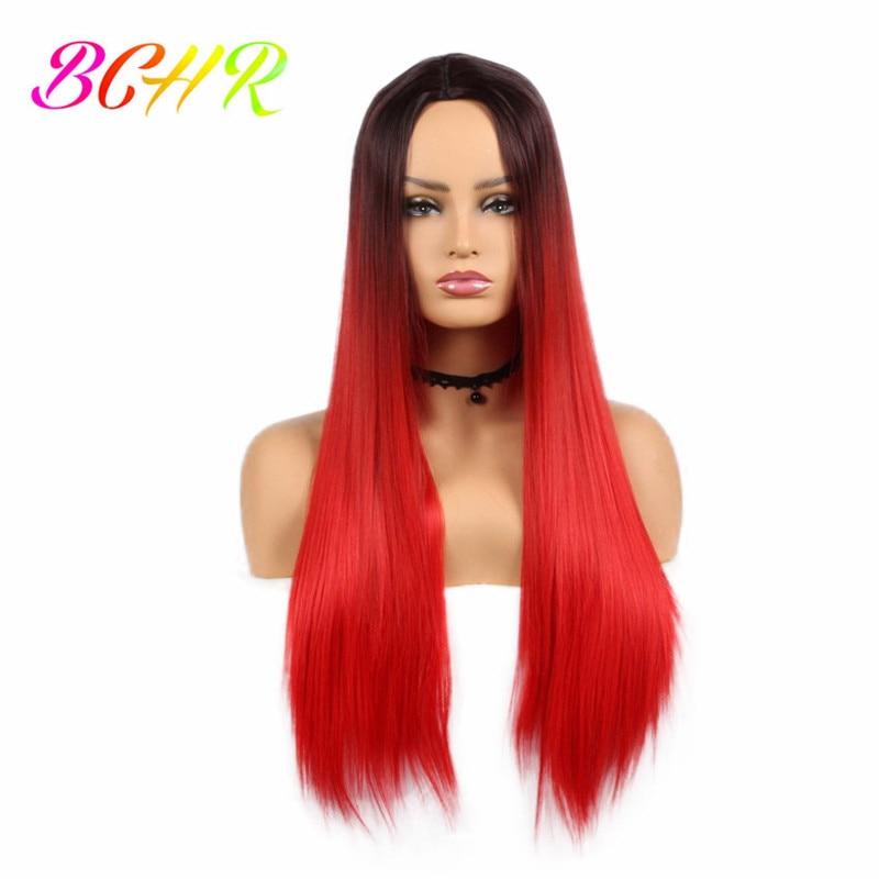 Ny Ankomst Billiga Hår Svarta Rötter Två Tone Ombre Röda Pärlor - Syntetiskt hår