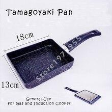 Japan Diamant Tamagoyaki Pan Egg Omelette Sushi Induktion 13×18 cm Tamago Yaki Methode Für Kochen Ei Pan, non-stick Pfannkuchen Topf