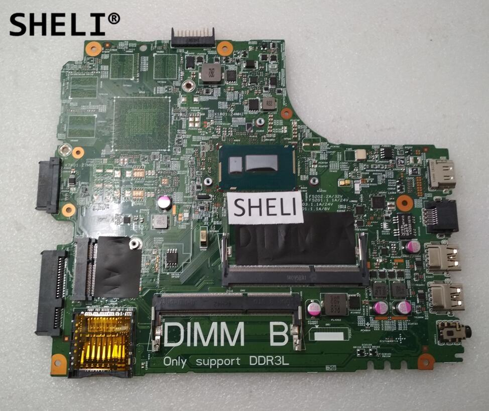 SHELI For DELL 14R 5437 3437 Motherboard 2955U DOE40-HSW CN-09DJXD 09DJXD 9DJXD tc4h 14r 100