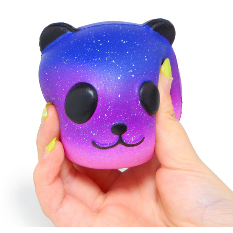 Squeeze-Toy Jumbo Squishy Panda Stress Reliever Colorful Galaxy Fun Gift Slow Rising img5