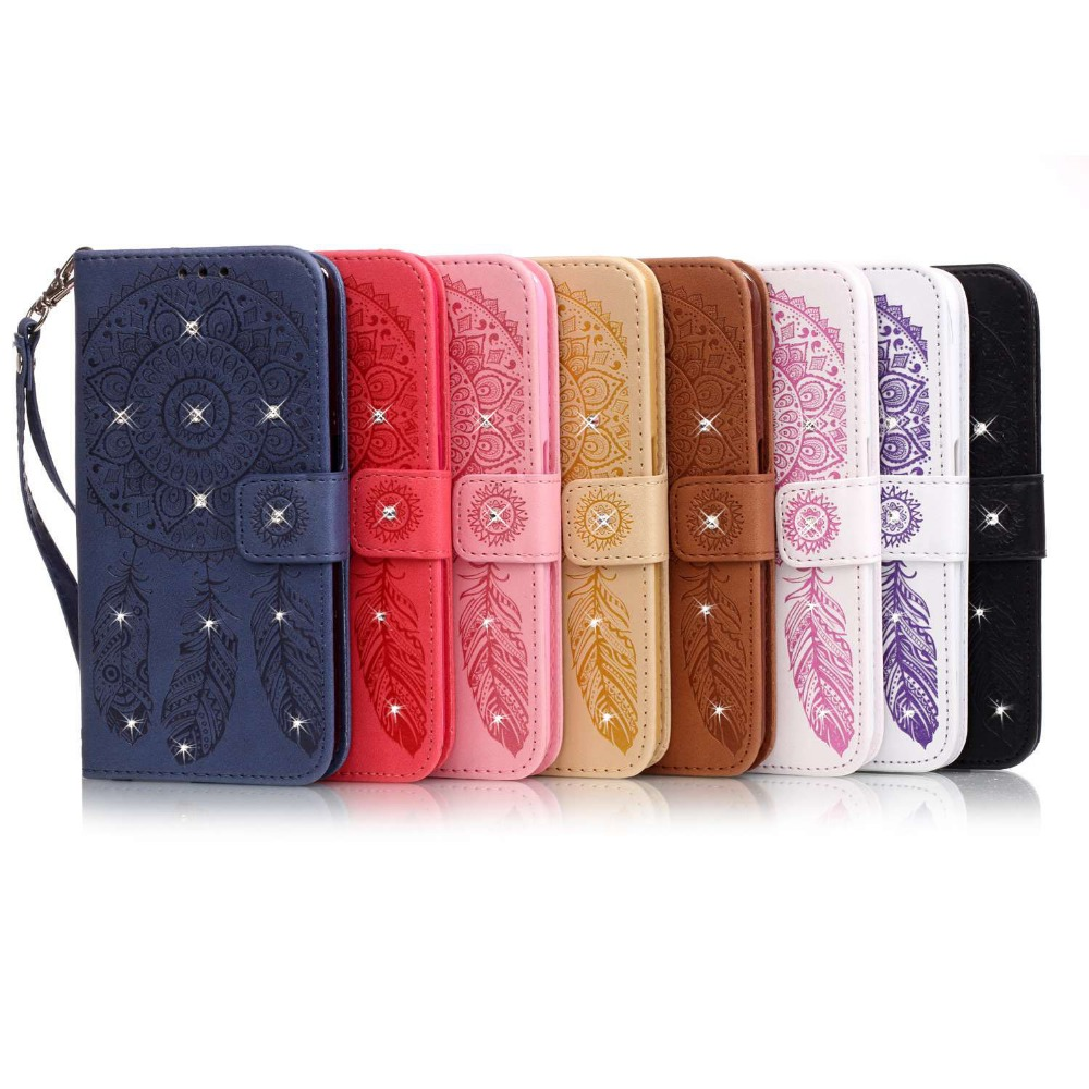 ✓Diamante Bling Dream Catcher funda para Samsung Galaxy Grand Prime ...
