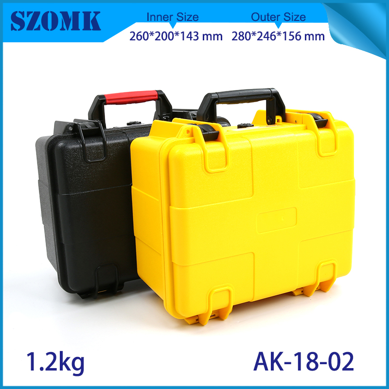 waterproof plastic hard tool carrying case pp and abs weatherproof equipment tool case with Sponge inside