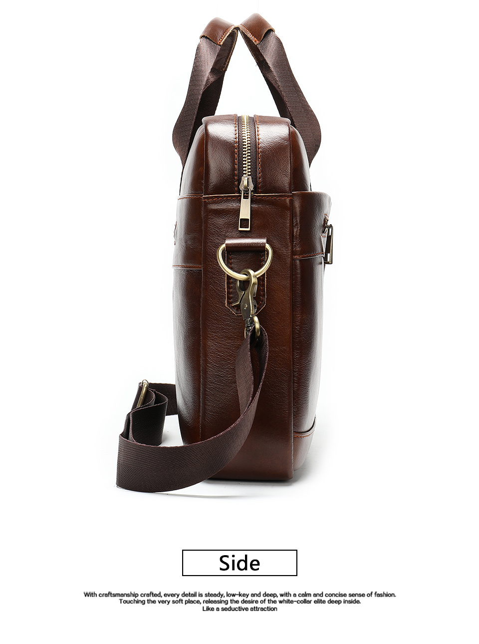 9 Bag Men's Genuine Leather Briefcase Male Handbags Lawyer Man Laptop Bag Leather for Men Messenger Bags Men's Briefcases