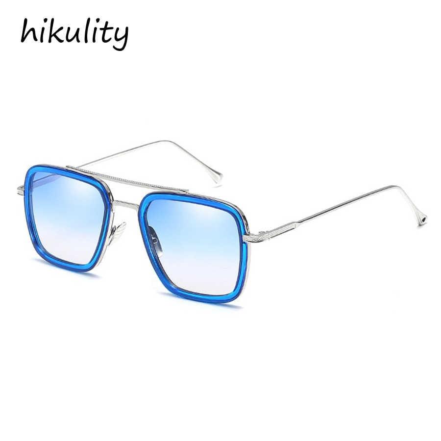 20e9cfe6b3 ... Avengers Infinity War Tony Stark Sunglasses Luxury Brand Iron Man  Glasses Rectangle Vintage Superhero Sun Glasses ...