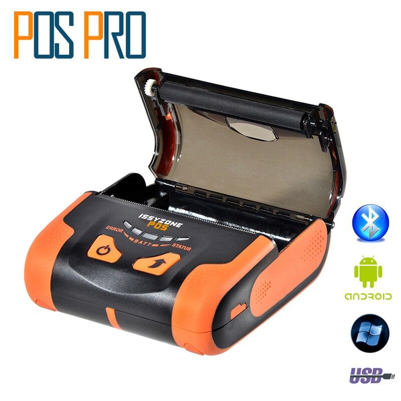 IMP013 80mm Bluetooth Mobile Mini Thermal Printer Lithium-ion batteries Bluetooth and USB Port support Arabic Thai printing