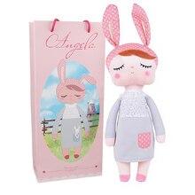 В коробке Metoo Кукла Kawaii плюшевая мягкая плюшевая животные детские игрушки для девочек и мальчиков на день рождения Рождество Кролик Анжела
