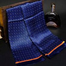 Винтажный шёлковый шарф мужской моды Пейсли цветочный узор печати двухслойный шелковый атлас шейный платок#4040