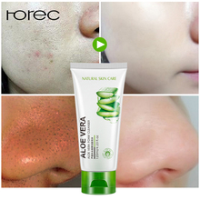 ROREC 100g Aloe Vera Extract Collagen Hydrating Repair Facial Cleanser Oil Control Acne Treatment Deep Pore Clean
