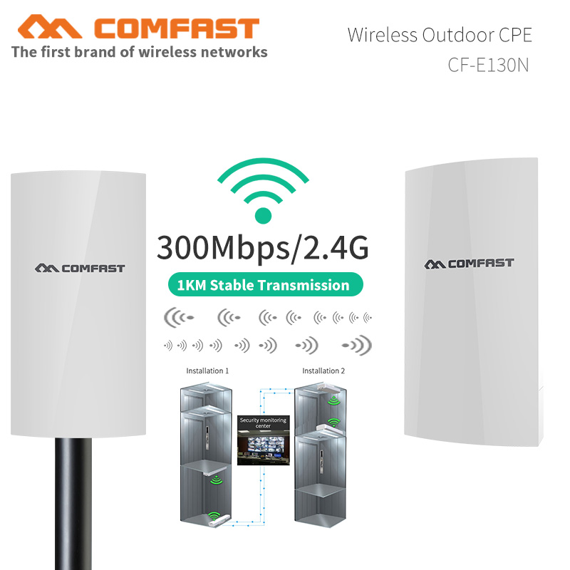 COMFAST CF-E130N 1KM 300Mbps Outdoor Mini WIFI CPE Wireless AP Bridge Access Point WI-FI Antenna Nanostation CPE For IP Camera