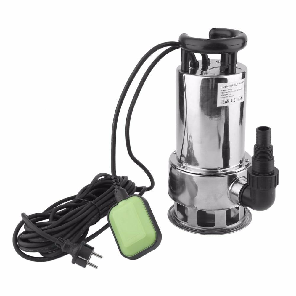 1100W 18m/H Waste Water Pump Stainless Teel Submersible Pump JP1100 D82B Dirty Water Pump Fountain Pump EU Plug