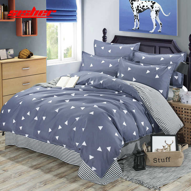 Sisher Kids Adult Duvet Cover sets Bedding set with Pillowcase Quilt covers cotton Brief Nordic Queen King Size Bedclothes linen