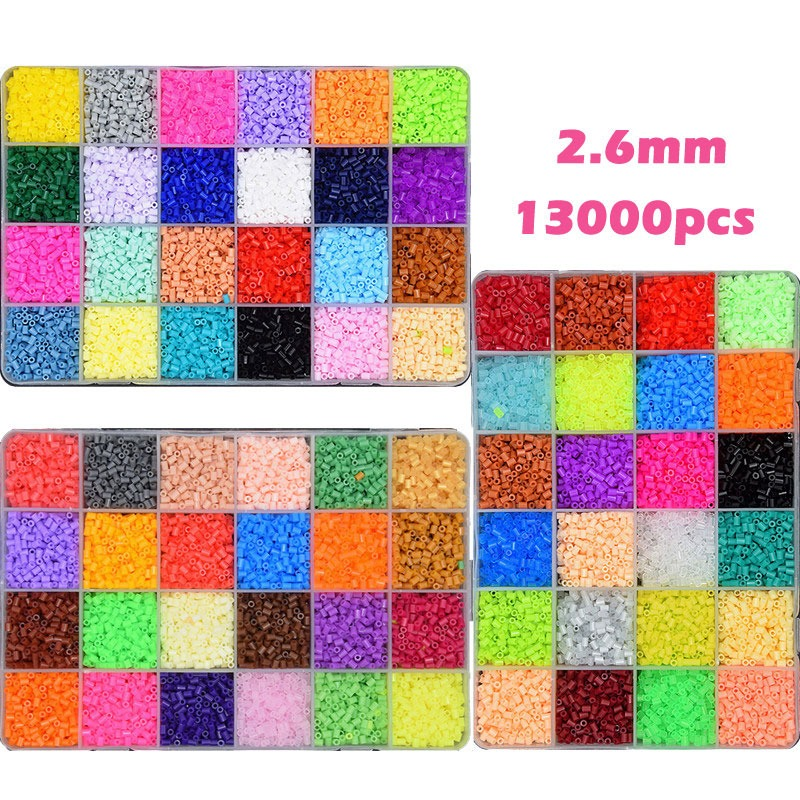 13000pcs/pack 2.6mm Highgrade Hama Beads Perler Beads Hama Magic Fuse Beads Kids Toys Educational Diy Puzzles 24 Colors Toys & Hobbies