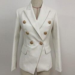 Lo último para el otoño invierno de 2019, chaqueta de diseño, chaqueta de mujer con botones de Metal de León, doble botonadura, chaqueta de cuero sintético, sobretodo