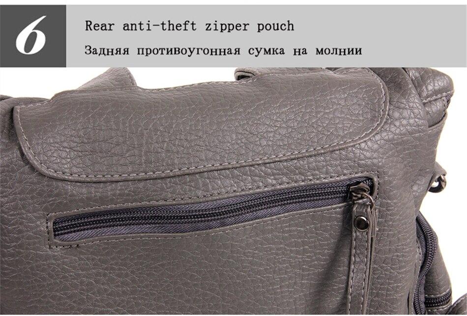 3-em-1 designe mochila bolsa de ombro feminina